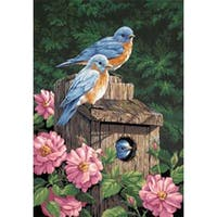"""Garden Bluebirds - Paint Works Paint By Number Kit 14""""X20"""""""