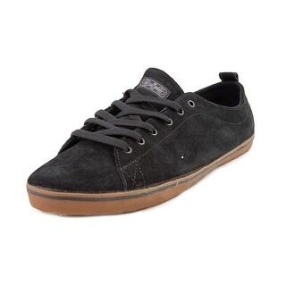 DVS Rehab Men Round Toe Suede Black Sneakers