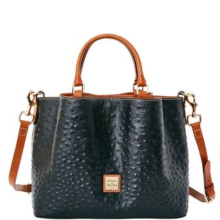 Dooney & Bourke Ostrich Barlow (Introduced by Dooney & Bourke at $348 in Jun 2016) - Black