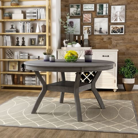 Furniture of America Sine Transitional 54-inch Round Dining Table