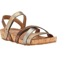 Walking Cradles Women's Pool Strappy Sandal Metallic Multi/Cork