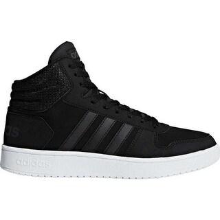 adidas Men's Hoops 2.0 Mid Basketball Shoe Black/Black/Carbon