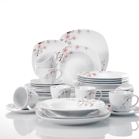 VEWEET 'Annie' Floral Dinnerware Set (Service for 6)