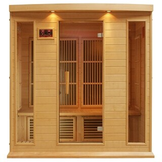 Maxxus MX-K406-01 Hemlock Wood 4-person Carbon Infrared Sauna