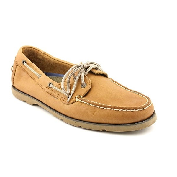 Sperry Top Sider Leeward 2-Eye Men Moc Toe Leather Tan Boat Shoe