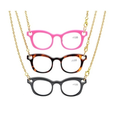 Eyekepper 3-Pack Mini Readers Necklace Reading Glasses 3pcs+2.5