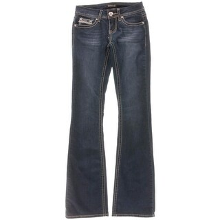 ZCO Jeans Womens Juniors Embellished Five-Pocket Flare Jeans