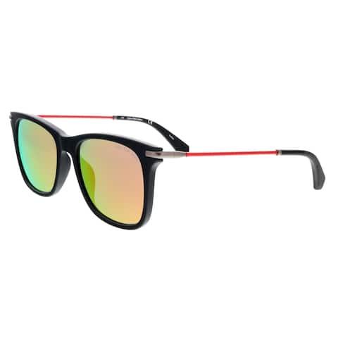 Calvin Klein CKJ512S 002 Matte Black Round Sunglasses - 54-18-140
