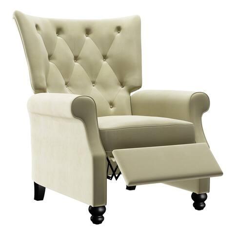 Copper Grove Velvet Push Back Recliner Chair
