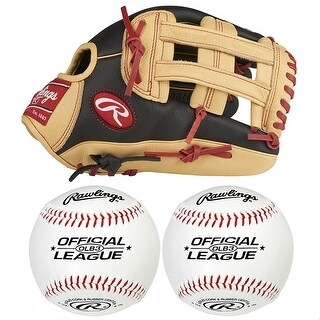 "Rawlings 12"" Youth Bryce Harper Glove (Right Hand Throw) w/ Baseballs (2-Pack)"