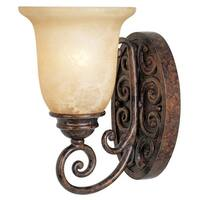 Designers Fountain 97501 1-Light Up Lighting Wall Sconce from the Amherst Collection - Burnt Umber - n/a