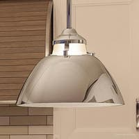 """Luxury Americana Pendant Light, 8.25""""H x 11""""W, with Mid-Century Modern Style, Polished Nickel Finish by Urban Ambiance"""