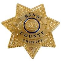 The Walking Dead King County Sheriff Prop Replica Brass Metal Badge - multi
