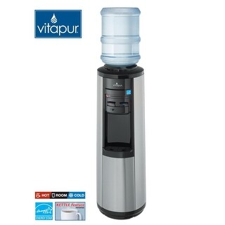 Vitapur VWD5446BLS Stainless Steel Hot & Cold Water Dispenser - stainless steel/blac