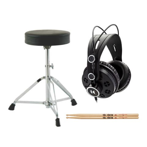 On-Stage MDT2 DrumFire Double-Braced Drum Throne Bundle with Accessory