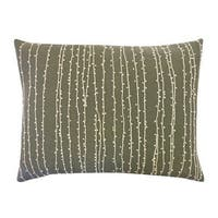 Vivai Home Grey Bead Raindrop Rectangle 12x 16 Cotton Feather Pillow