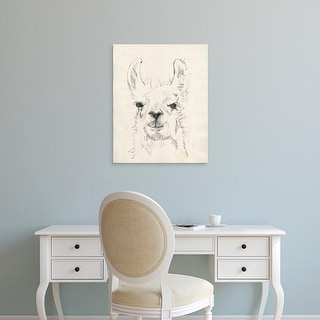 Easy Art Prints Jennifer Goldberger's 'Llama Portrait I' Premium Canvas Art