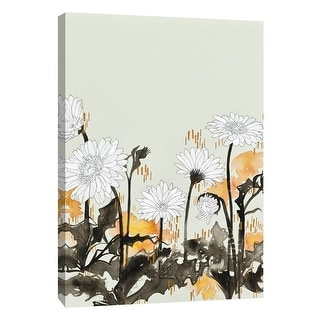 "PTM Images 9-105413  PTM Canvas Collection 10"" x 8"" - ""Alabaster Garden 3"" Giclee Flowers Art Print on Canvas"