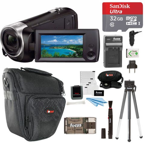 Sony CX405 Handycam Camcorder with 32GB SD Card and Accessory Bundle