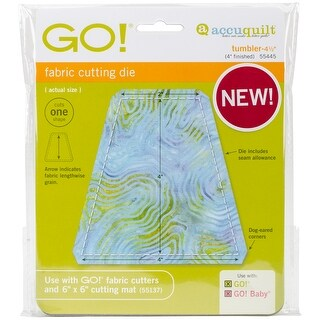 "Go! Fabric Cutting Dies-Tumbler 4"" Finished Size"