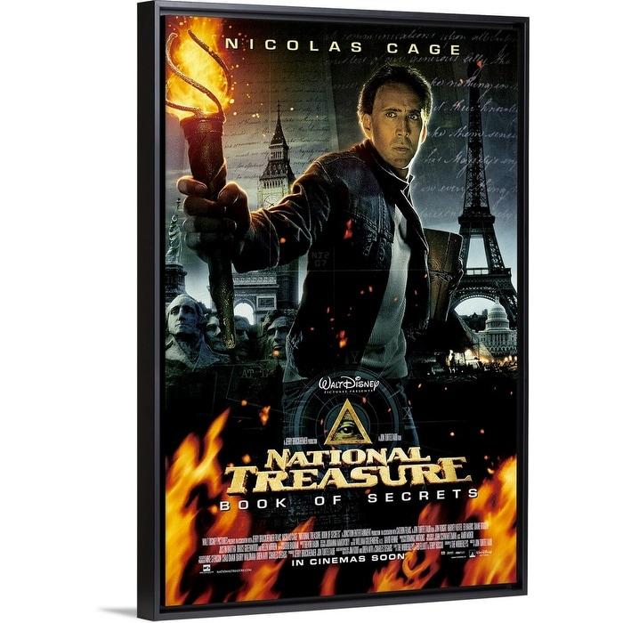 Shop National Treasure Book Of Secrets 2007 Black Float Frame Canvas Art Overstock 25505256