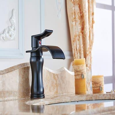 Oil-rubbed Bronze Single Hole Bathroom Sink Faucet