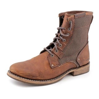 Caterpillar Abe TX Men Round Toe Leather Brown Work Boot