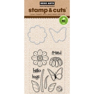 Hero Arts Stamp & Cuts-Butterfly & Flower