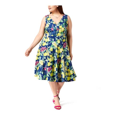 Betsey Johnson Womens Plus Party Dress Floral Fit & Flare