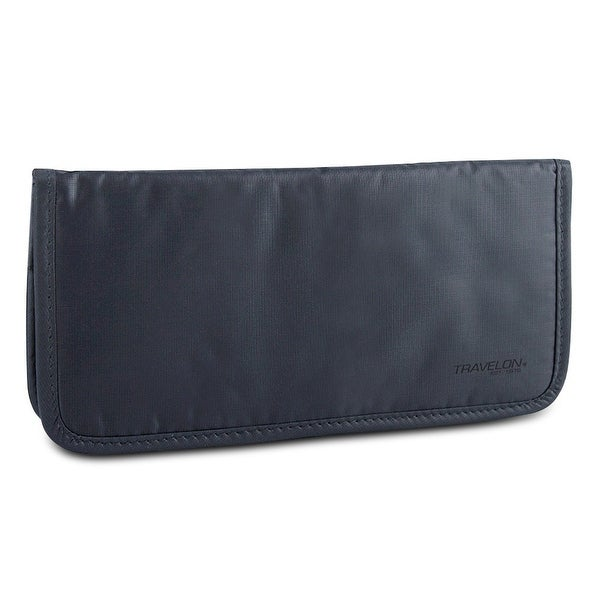 Travelon Safe ID Hack-Proof Ladies Wallet with RFID Blocking, Dark Gray