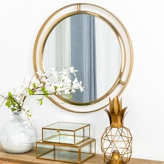 """Link to Glitzhome 24""""D Deluxe Round Wall Mirror Similar Items in Mirrors"""