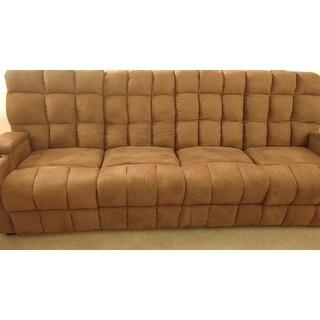 ... Oliver U0026amp; James Saskia Brown Microfiber 4 Seat Recliner Sofa ...