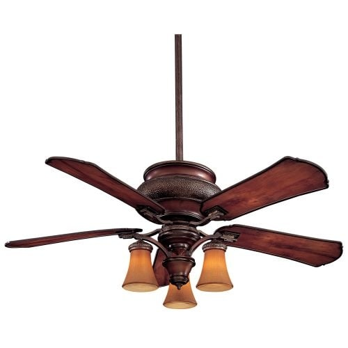 "MinkaAire Craftsman 5 Blade 52"" Indoor / Outdoor Ceiling Fan - Light, Wall Control, Blades Included"