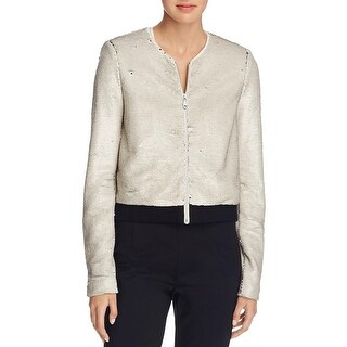 Rebecca Minkoff Womens Jacket Sequined Long Sleeve - XXS