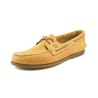 Sperry Top Sider A/O Men Moc Toe Leather Tan Boat Shoe