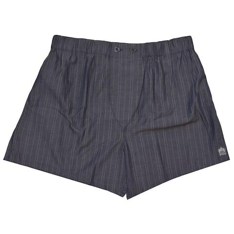 Nero Perla Gray Striped Boxer Size 2XL