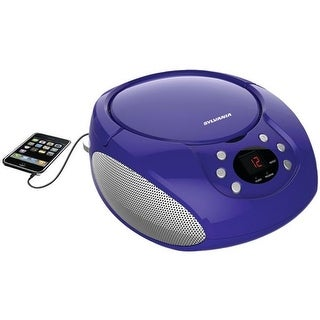 Sylvania Portable CD Players with AM & FM Radio - Purple