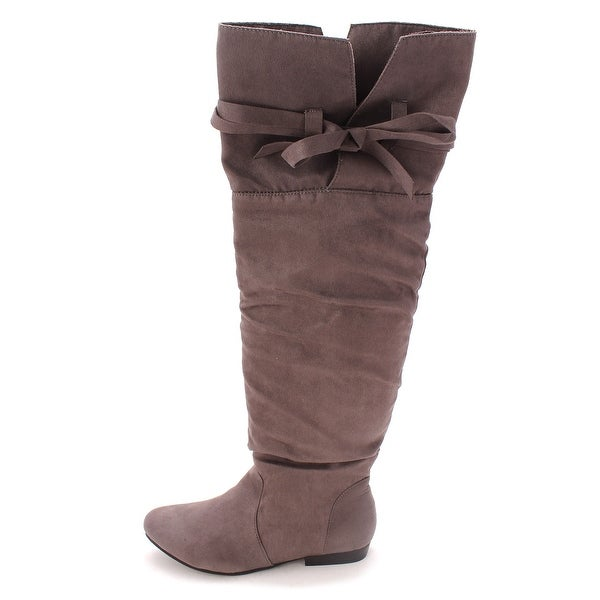 Just Fab Womens romesha Closed Toe Mid-Calf Fashion Boots - 7