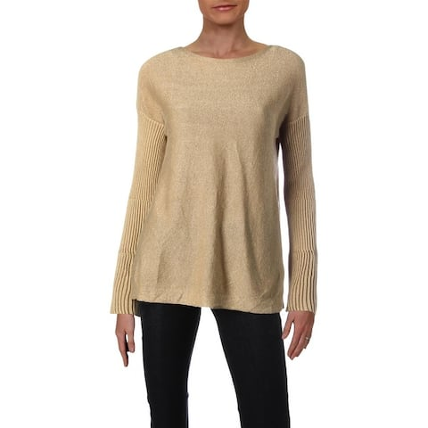 Vince Camuto Womens Sweater Metallic Bell Sleeves