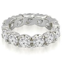 14K White Gold 4.25 ct.tw Round Cut Diamond Fishtail Eternity Ring HI,SI1-2