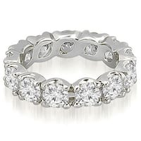 14K White Gold 4.25 cttw.Round Diamond Eternity Ring HI,SI1-2