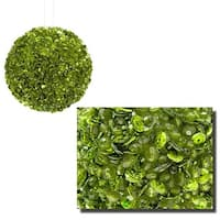 Lavish Lime Green Fully Sequined & Beaded Christmas Ball Ornament -