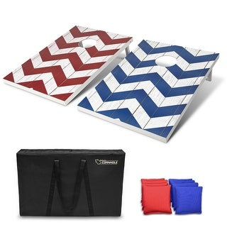 Link to GoSports 3'x2' Chevron Design Cornhole Game Set - Includes Two 3'x2' Boards, 8 Bean Bags and Carry Case Similar Items in Outdoor Play