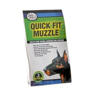 """Four Paws Quick Fit Muzzle Size 3 - Fits 6"""" Snout"""
