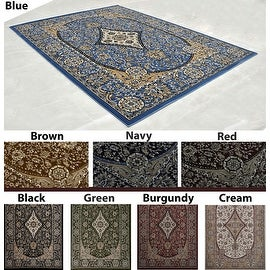 2.6x7.3 5.3x7.2 8x10 Black Blue Green Red Brown Navy Burgundy Cream Brand New Traditional Persian Floral Area Rug Carpet