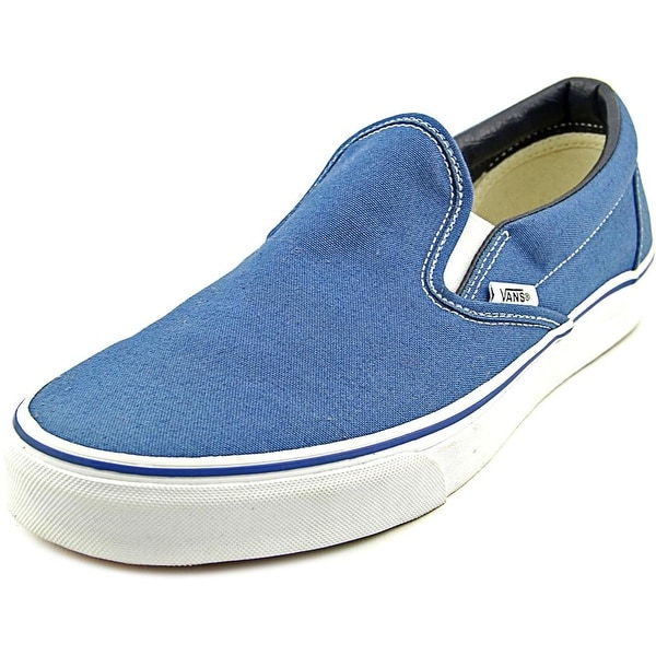 e65e49ab9e5 Shop Vans Classic Slip-On Women Round Toe Canvas Blue Skate Shoe ...