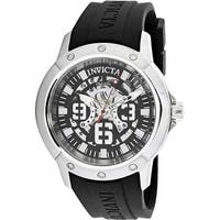 Invicta Men's Objet D Art  Black Rubber Quartz Fashion Watch