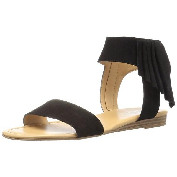 Franco Sarto Womens glitter Open Toe Casual Ankle Strap Sandals