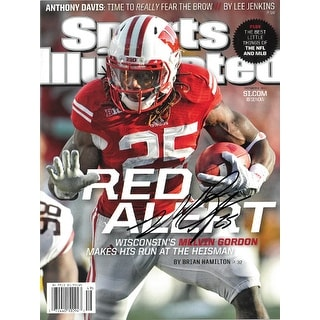 Melvin Gordon signed Wisconsin Badgers Sports Illustrated Full Magazine 12-8-2014 Red Alert #25