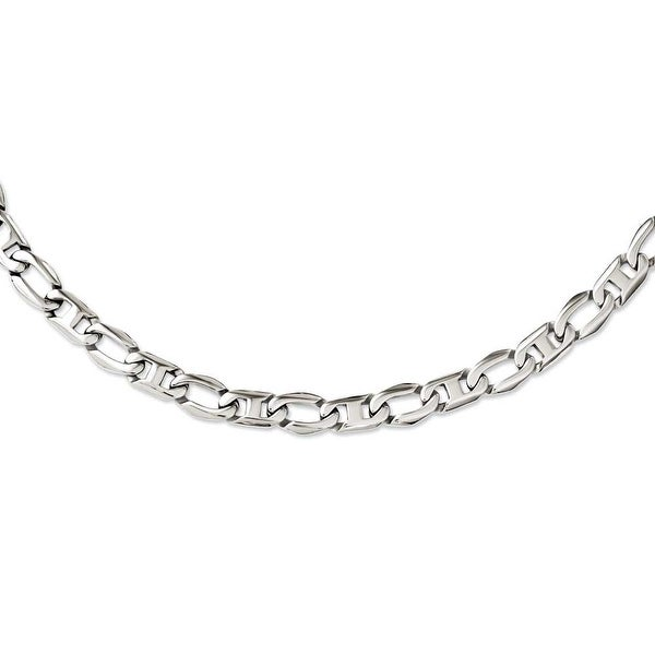 Chisel Stainless Steel Polished Open Links Necklace (12 mm) - 24 in